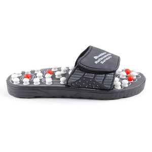 Foot Reflex Massage Slippers (Black)