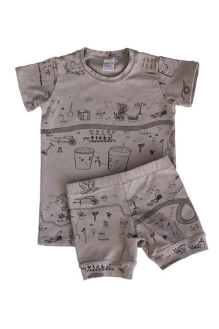 Rain 'Garden' Shortie PJ Set