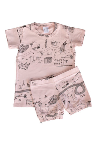 Rose 'Garden' Shortie PJ Set