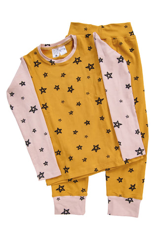 Honey Star Patchwork Long PJ Set