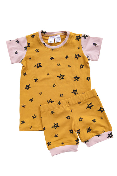 Honey Star Patchwork Shortie PJ Set