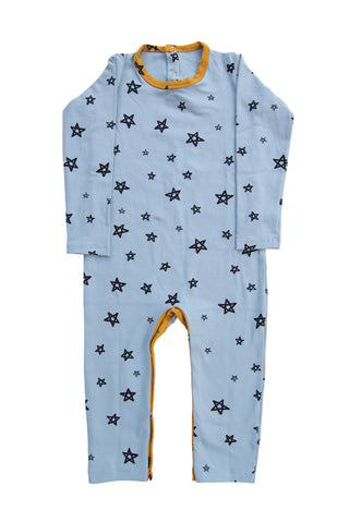 Powder Star Patchwork Longsleeve Romper