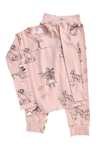 Rose 'When I Grow Up' Long PJ Set