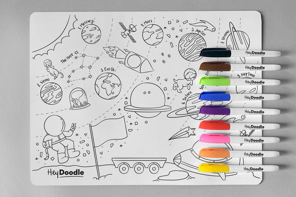 HeyDoodle Mat | Outer Space
