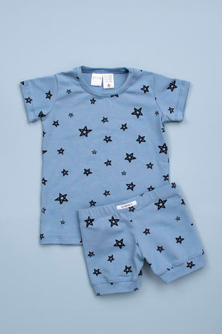 THE BASICS True Blue Star Shortie PJ Set