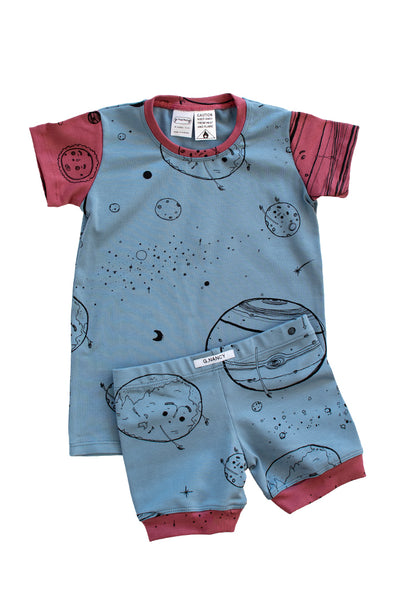 Mars Patchwork Shortie PJ Set