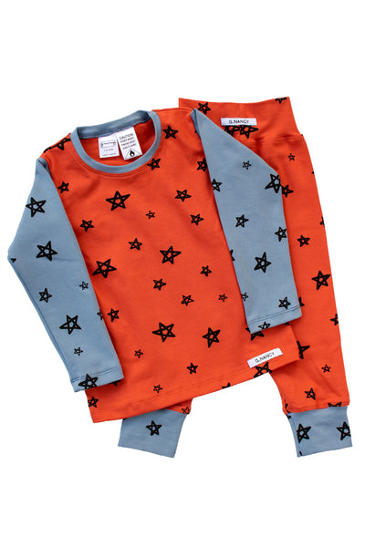 Picasso Star Patchwork Long PJ Set