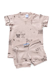 Rose 'Breakfast' Shortie PJ Set