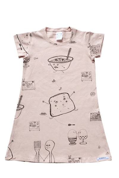 Rose 'Breakfast in Bed' Shortsleeve Nightie