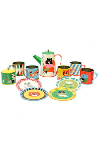 Retro Tin Play Tea Set
