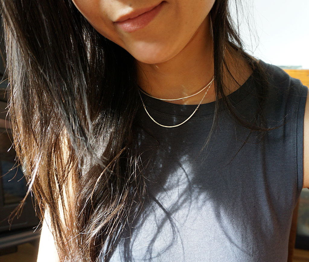 silver layered necklaces by delia langan jewelry