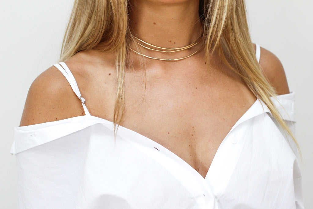 halo collar layered choker necklaces by delia langan jewelry