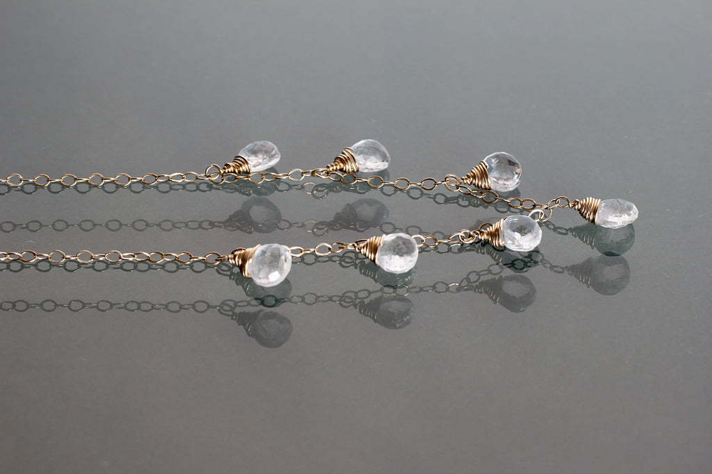 white topaz necklace by delia langan jewelry