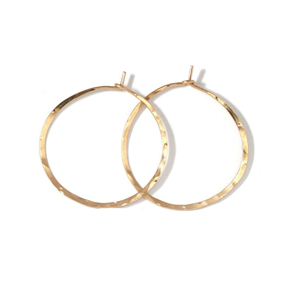 small gold endless hoop earrings