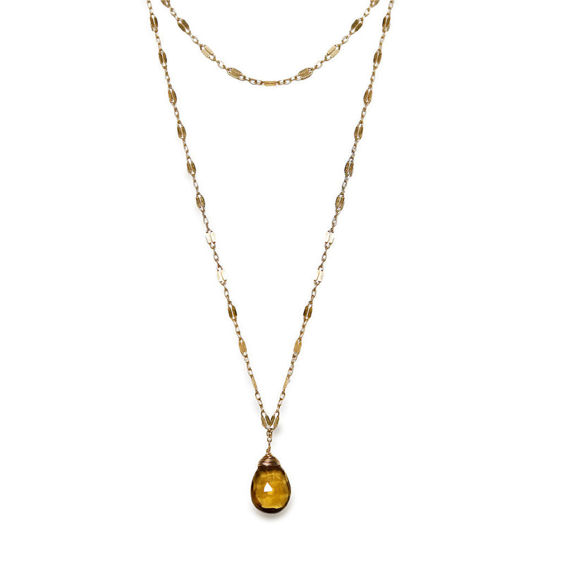 beer quartz choker wrap necklace on dainty gold sequin chain