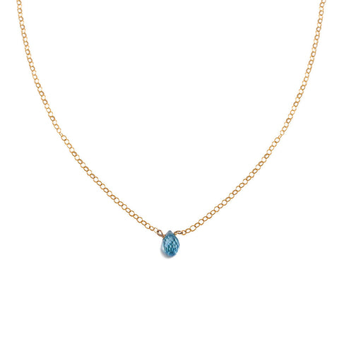 Blue Topaz Short Pendant