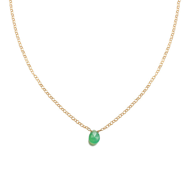 green chrysoprase pendant by delia langan jewelry