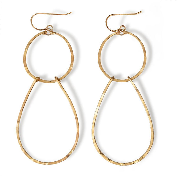 double drop earrings by delia langan jewelry
