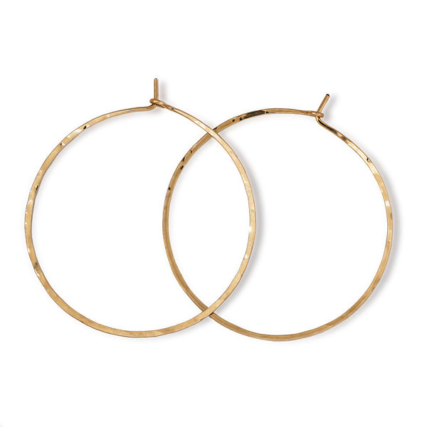 14k gold filled 2 inch endless thin hoop earrings