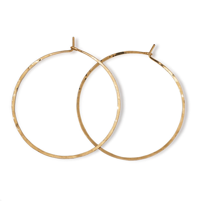 2 Inch Endless Thin Hoop Earrings