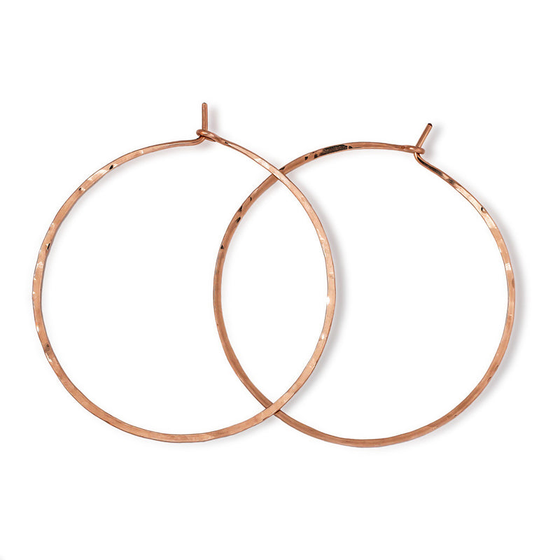 hammered gold hoop earrings by delia langan jewelry