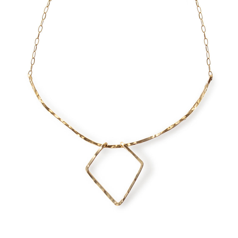 arrowhead arc necklace by delia langan jewelry