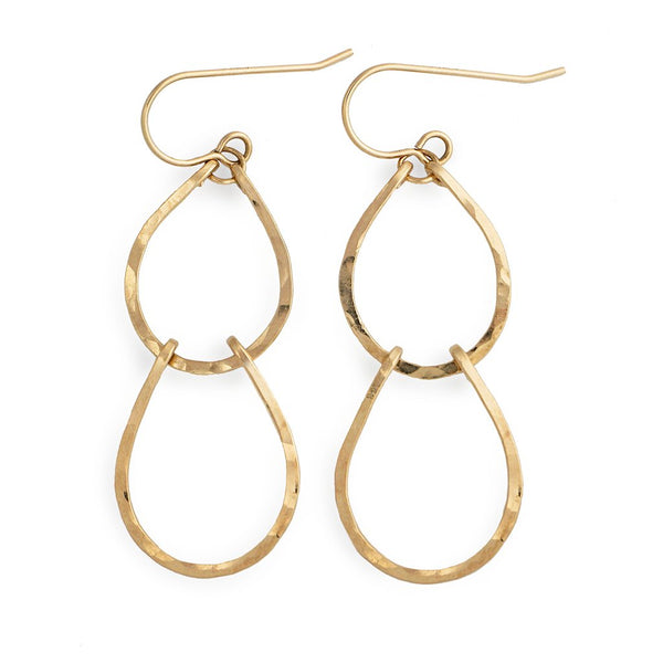 gold hammered teardrops by delia langan jewelry