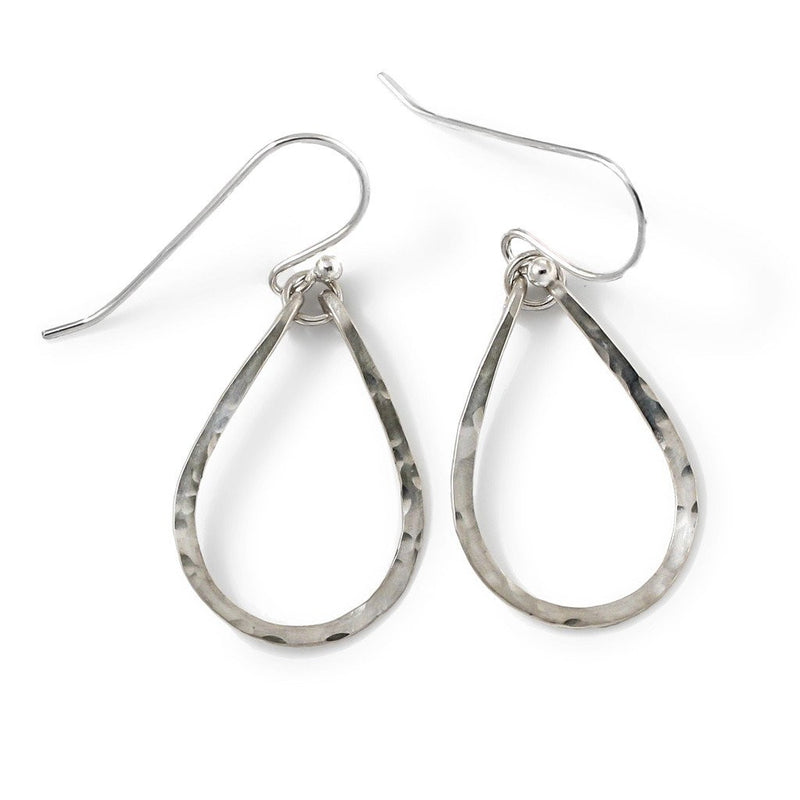 small tiny sterling silver teardrop drop earrings by delia langan jewelry