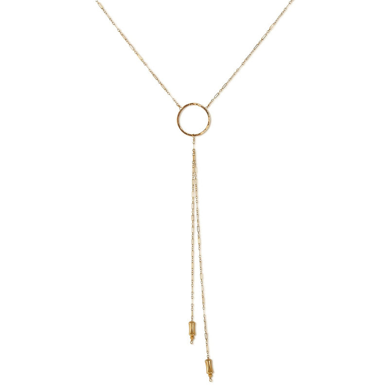 delia langan gold bolo necklace circle y necklace by delia langan jewelry