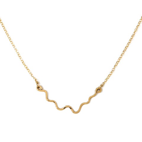 i'm hammered necklace wavy delicate gold chain necklace by delia langan jewelry