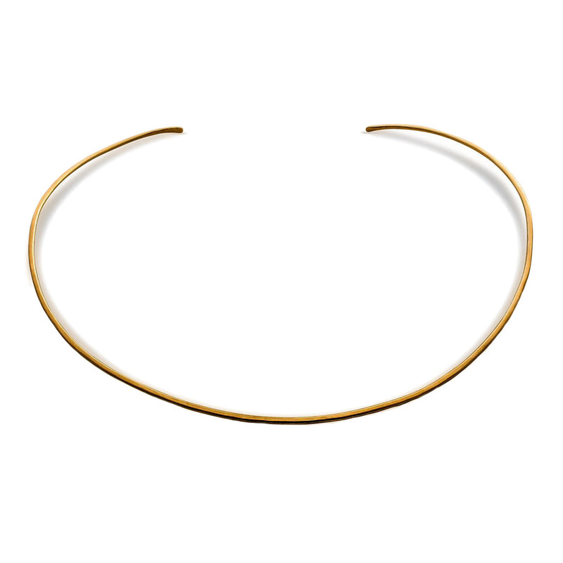 14k gold filled halo collar on a white surface