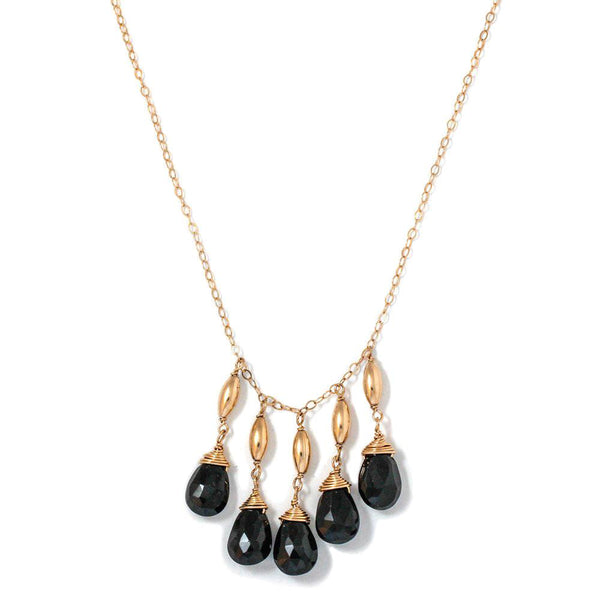 Black Spinel Cascade Necklace