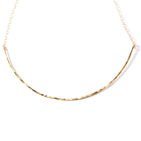 xl scenic route thin gold choker necklace by delia langan jewelry