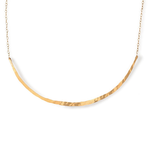 hammered gold choker necklace handmade by delia langan jewelry