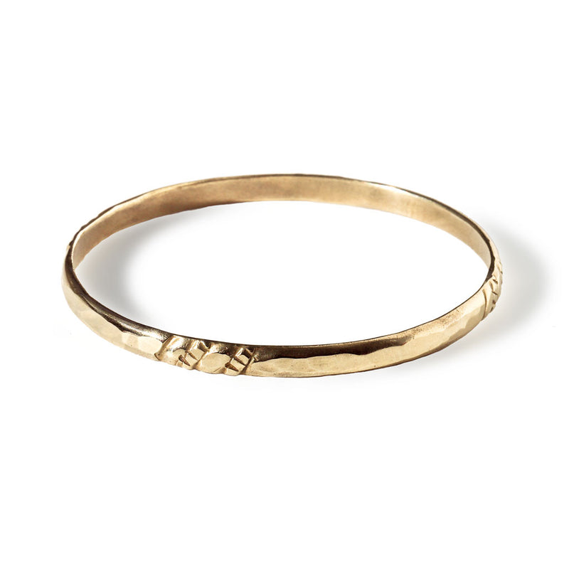 single brass bangle by delia langan jewelry