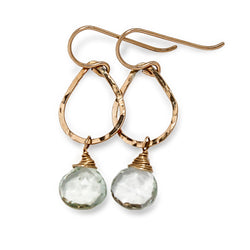 green amethyst and gold earrings by delia langan jewelry