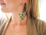 Green Onyx Cascade Earrings