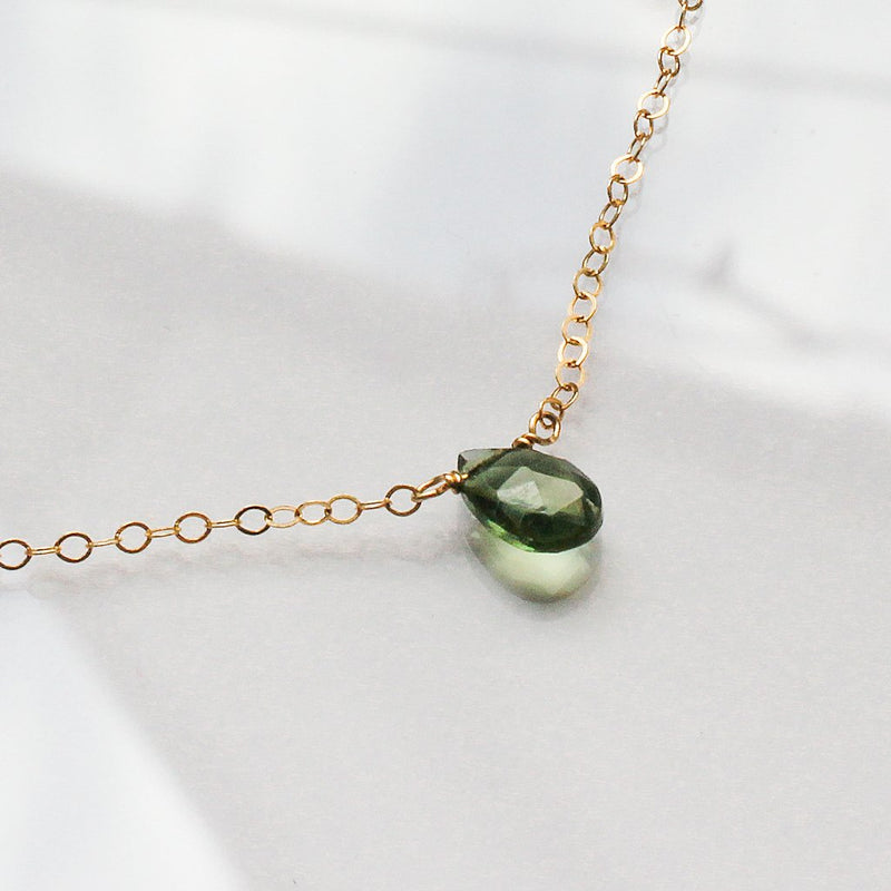 green quartz gemstone necklace by delia langan jewelry