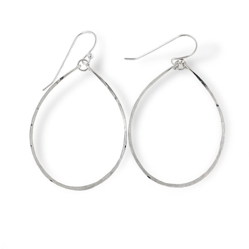 sterling silver hoops for nuns hoop earrings on a white surface