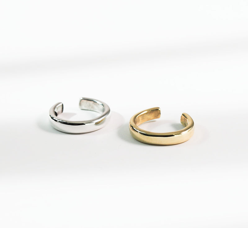 Silver and Gold Hugh Hoops on white background
