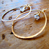 White Topaz Droplette Hoops