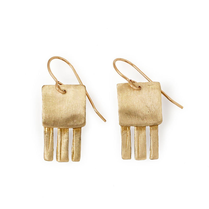 gold jellyfish earrings by delia langan jewelry