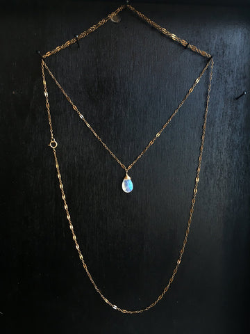 moonstone choker wrap necklace by delia langan jewelry