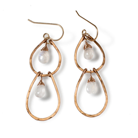 Moonstone Double Drop Earrings