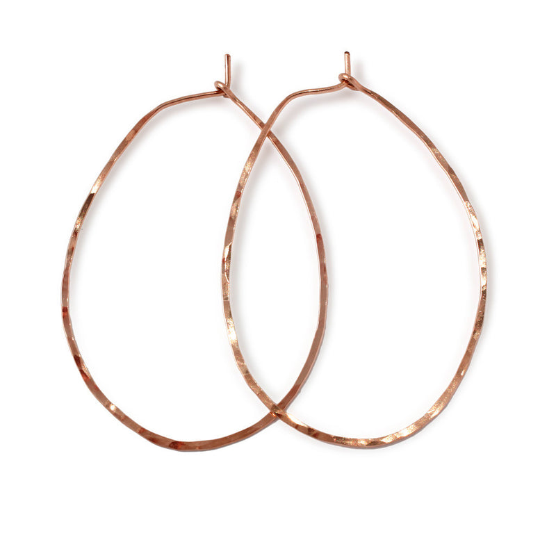 Straight Through Oval Hoop Earrings