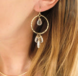 Crystal Quartz Dreamcatcher Hoops