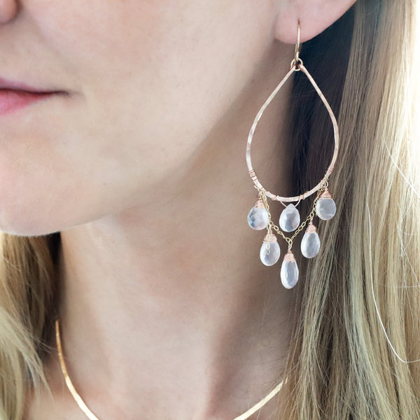Rose Cascade Hoops