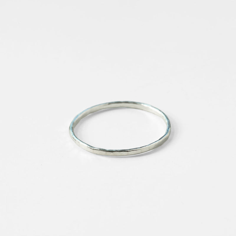 single thin silver ring