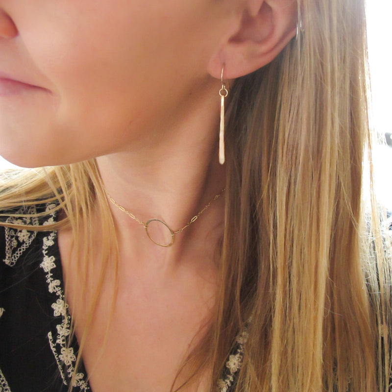 delicate fringe hammered earrings by delia langan jewelry