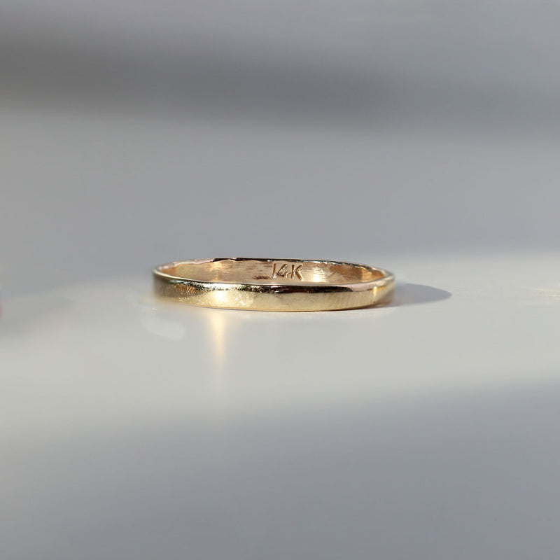 solid 14k gold band
